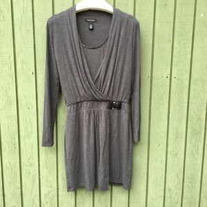 White House/Black Market Lined Grey Dress